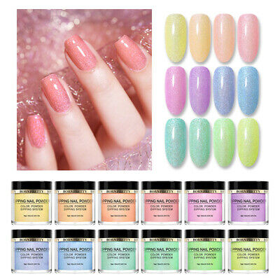 BORN PRETTY 10ml Dipping Nail Powder Natural Dry Shelly Dust for Nails Designs
