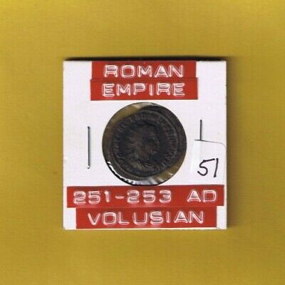 "Ancient Roman Empire coin of ""Volusian"" 251-253 AD AR silver antoninianus...RARE"