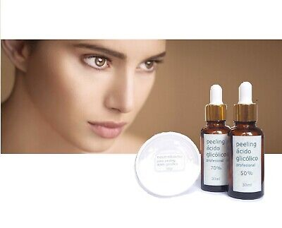★2x PACK PEELING ACIDO GLICOLICO >> Kit PEEL 50% 30ml + 70% 30ml +NEUTRALIZADOR