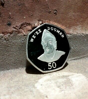 FUNNY BREXIT COIN 50p style SOUVENIR ALBUM FILLER (WE ARE DOOMED) Kew gardens UK