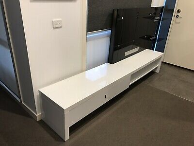 TV ENTERTAINMENT UNIT - with Shelf, Draw & LED Lighting - Modern &  Impressive!