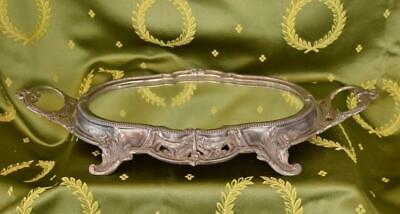 Gorgeous Antique French Mirrored Tray / Stand, Bows & Garlands, 19th C  - B939