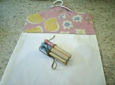 Laura Ashley Bloomsbury, Charleston, Duncan Grant's 'Pink Grapes' Fabric Peg Bag
