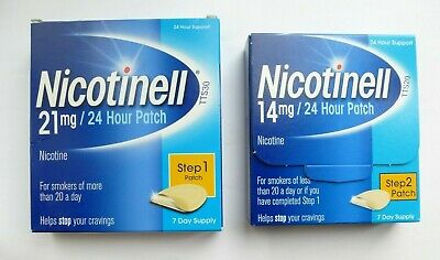 NICOTINELL 7mg / 14mg / 21mg X 7 Patches ( Choose Strength ) STEP 1-2-3
