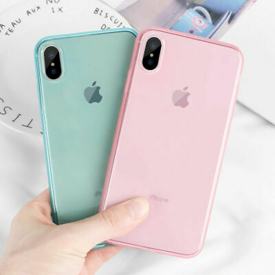 Shockproof Transparent Silicone Case Cover For iPhone X XS Max XR 8 7 Plus 6S