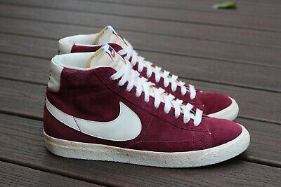 check out fe448 28569 Nike Blazer HI Suede VNTG Dark Garnett Sail 344344 601 SZ 10.5 Dark Red  Vintage
