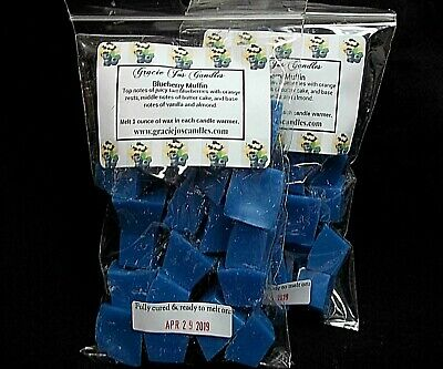 BLUEBERRY MUFFIN Scented Tart Wax Melt Chunks Home Candle Warmer Burner Scent