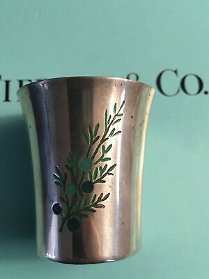 Tiffany & Co. sterling silver rye jigger shot glass cup makers 23888 rare 1960's