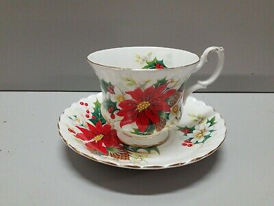 VINTAGE Cup & Saucer ROYAL ALBERT Bone China YULETIDE