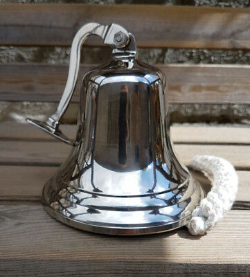 """5"""" Last Orders Wall Mounted Chrome Silver Door Bell Ships Bell  ~ Pub  Bell"""