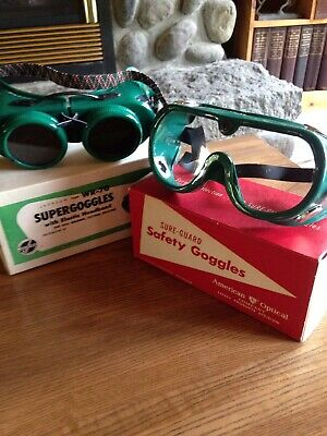 Two Pair Vintage Welding/Safety Goggles Steam Punk Style cosplay Made In USA