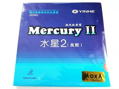 Yinhe Mercury 2 Table Tennis Rubber 1+Red/1+Black Medium sponge Uk Stock