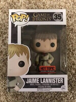 NEW Funko Pop Game Of Thrones Golden Hand Jaime Lannister Hot Topic VAULTED
