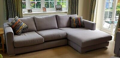 bc9eac165ff Sofology Majestic Sofa - Large Right Hand Facing Chaise (Toulouse Silver)
