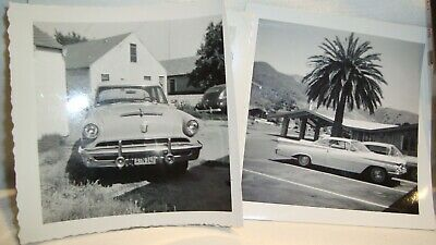 "Vintage Black & White Photos W/Negatives of 1950-1960""s Cars Lot of (5 items)"