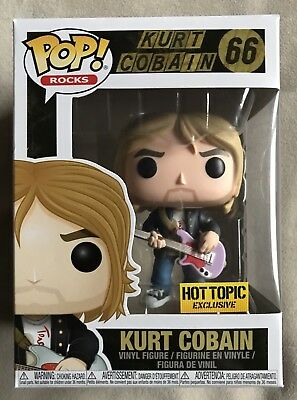 Funko Pop Rock Vinyl Kurt Cobain Nirvana MTVs Live & Loud Hot Topic Exclusive 66
