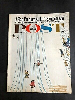 The Saturday Evening Post  February 13 1962 Plan For Survival In The Nuclear Age