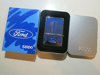 Authentic Zippo Lighter - Ford gril 20428 - No Inside Guts Insert