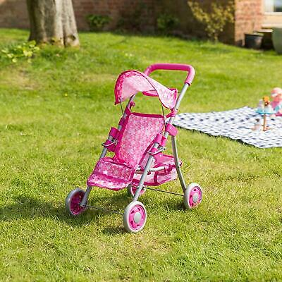 Molly Polly 2 in 1 Deluxe Babyboo Doll Stroller/Pram Buggy Pink Girls Junior Toy