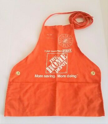 New Adult Home Depot Apron Improvement Store sm/med