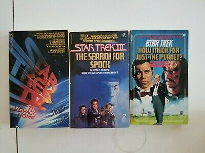 Star Trek books, Search for Spock, The Voyage Home, How Much for Just the Planet