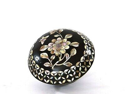 1900's Chinese Mother of Pearl Inlaid Lacquer Ink Scholar Box Marked