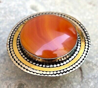 Real Red Carnelian Stone Ring Afghan Kuchi Bohemian Boho Jewelry Festival Ethnic