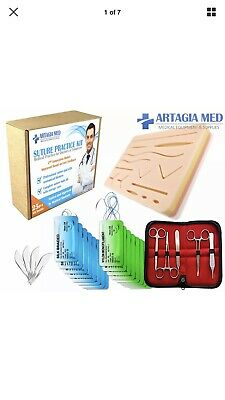 ARTAGIA Complete Suture Practice Kit for Suture Training Including Large Sil...