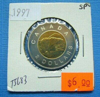 Mint Condition UNC. 1997 Canada Toonie Two Dollar Coin