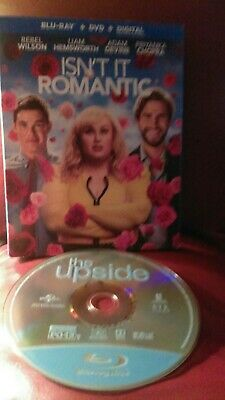 Isn't It Romantic Blu-ray + DVD + Digital Slipcover NEW+The Upside Bluray only