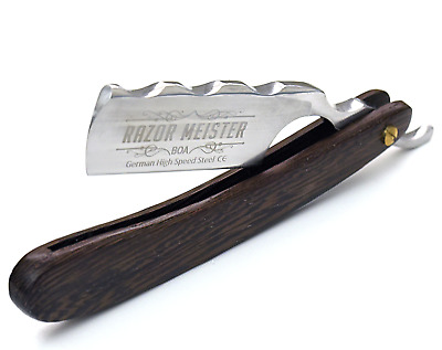 Straight Razor German High Speed Steel Shave Ready Exotic Wenge Wood Scales