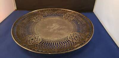 "Sterling Silver Reticulated Plate Black Starr & Frost 11 1/4""D Vintage"