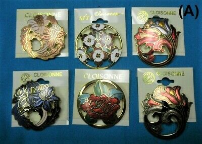 Wholesale Clearance-25 Top Quality Handpainted Cloisonne brooch pins-New