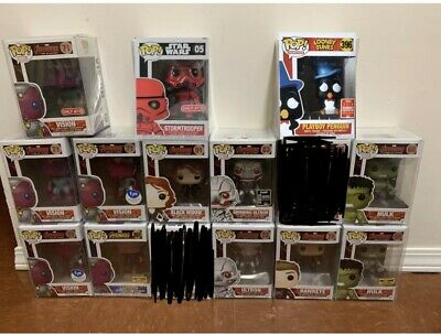 Funko Pop! Avengers Ultron Smiling Black Widow Vision Hulk Scarlet Hawkeye READ