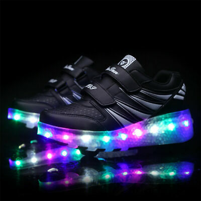 Light Up Roller Shoes Size EURO 38 Boys or Girls LED Sneakers Skates