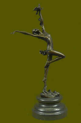 Aldo Vitaleh Prima Ballerina Bronze Sculpture Art Deco Marble Base Figurine SALE