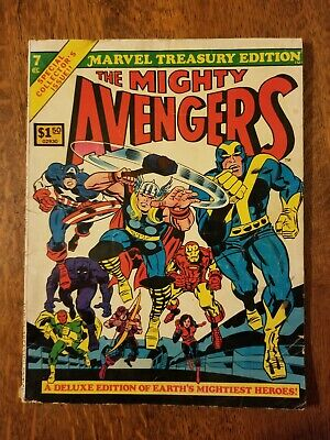 1975 MARVEL TREASURY EDITION #7 THE MIGHTY AVENGERS Special Collectors Issue!