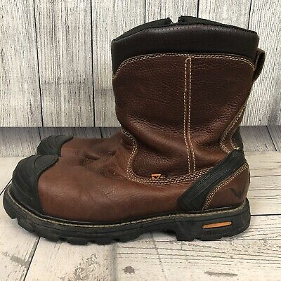 1965017c077 THOROGOOD MEN'S BROWN Side Zip Wellington Safety Toe Work Boots, 804-4440  sz 14