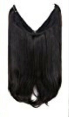 Creamy Flip In Synthetic Hair Extensions Natural Black Secret Wire 16""