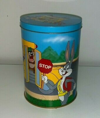 "BUGS BUNNY 50th ANNIVERSARY,  ""LOONEY TUNES SCHOOL BUS""  BRACH'S CANDY TIN"