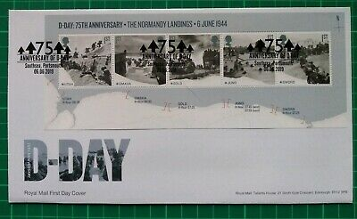 2019 75th Anniversary D-Day Miniature Sheet FDC Southsea Portsmouth postmark