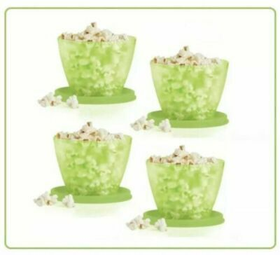 Tupperware Refrigerator Bowl Container Set of 4 Lime Green NEW