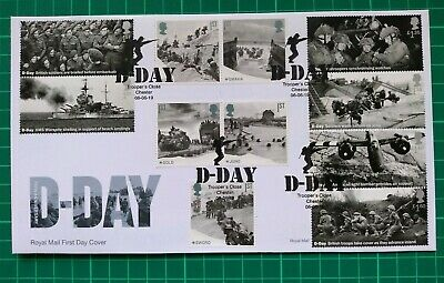 2019 75th Anniversary D-Day ALL 11 Stamps FDC Trooper's Close Chester postmark