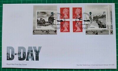 2019 75th Anniversary D-Day Cylinder Retail Booklet FDC 75 Southsea Portsmouth p