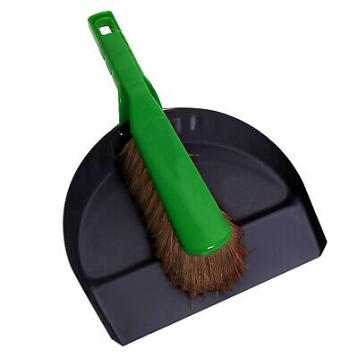 Sabco PREMIUM METAL DUSTPAN & BRUSH SET Heady Duty, Ideal For Garden Use