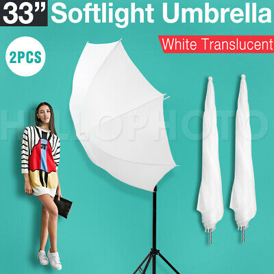"2x 33"" Photography Video Soft Umbrella Shoot Through for Studio Speedlite Flash"