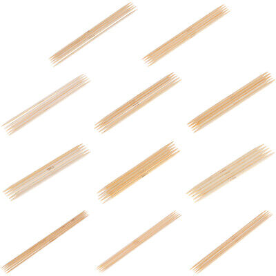 55Pcs double pointed bamboo knitting needles sweater glove knit tool set AL