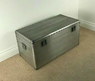 *FACTORY SECOND* 70cm Compact Urban Storage Chest  INDUSTRIAL RIVET DESIGN TRUNK