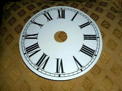 "Round Paper Clock Dial- 7 3/4"" M/T- with 1 1/4"" Centre Hole-WHITE- Parts/Spares"
