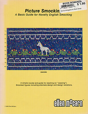 PICTURE SMOCKING Ellen McCarn Basic Guide + UNICORN Smocking Pattern 1981